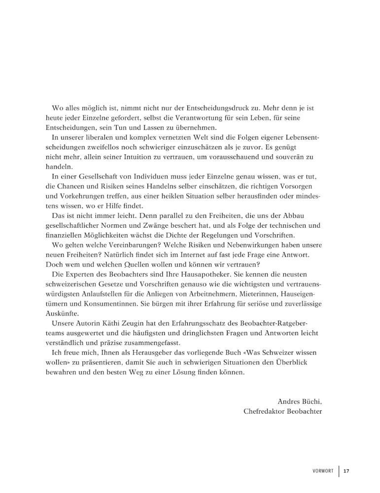 blick ins buch was schweizer wissen wollen - Schriftgre Lebenslauf